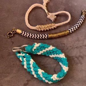 Jcrew rope bracelets set of 3